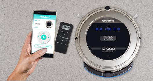 Duoro Xclean robotický vysavač s přehledným ovládáním. Komunikuje česky.